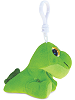 Dinosaur (Green) Big Eyes Plush Backpack Clip Stuffed Animal (Side View)