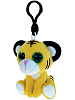 Tiger Big Eyes Plush Backpack Clip Stuffed Animal (Rotated)