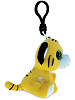 Tiger Big Eyes Plush Backpack Clip Stuffed Animal (Side View)