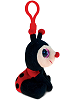 Ladybug Big Eyes Plush Backpack Clip Stuffed Animal (Side View)