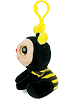 Honey Bee Big Eyes Plush Backpack Clip Stuffed Animal (Side View)