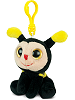 Honey Bee Big Eyes Plush Backpack Clip Stuffed Animal by Puzzled