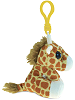 Giraffe Big Eyes Plush Backpack Clip Stuffed Animal (Side View)