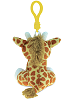 Giraffe Big Eyes Plush Backpack Clip Stuffed Animal (Back View)