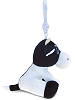 Cow Big Eyes Plush Backpack Clip Stuffed Animal (Side View)