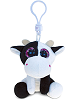Cow Big Eyes Plush Backpack Clip Stuffed Animal by Puzzled