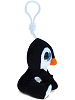 Penguin Big Eyes Plush Backpack Clip Stuffed Animal (Side View)