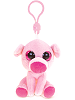 Pig Big Eyes Plush Backpack Clip Stuffed Animal (Front)