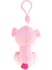 Pig Big Eyes Plush Backpack Clip Stuffed Animal (Back)
