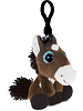 Horse Big Eyes Plush Backpack Clip Stuffed Animal (Rotated)