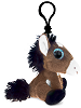 Horse Big Eyes Plush Backpack Clip Stuffed Animal (Side)