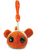 Clown Fish Big Eyes Plush Backpack Clip Stuffed Animal by Puzzled