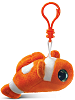 Clown Fish Big Eyes Plush Backpack Clip Stuffed Animal (Side)