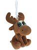 Moose Big Eyes Plush Backpack Clip Stuffed Animal (Rotated)