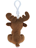 Moose Big Eyes Plush Backpack Clip Stuffed Animal (Back)