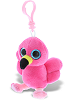 Flamingo Big Eyes Plush Backpack Clip Stuffed Animal by DolliBu