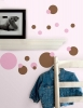 Just Dots (Pink & Brown) RoomMates Wall Decals Room View