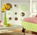 Just Dots (Green & Brown) RoomMates Wall Decals Room View