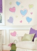 Hearts RoomMates Wall Decals Room View