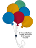 6 Round Balloon Cluster (Large) Fabric Wall Art Shown in #70 Nature 4-Color