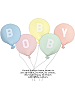 Round Balloon Name Bobby shown in 33 Light Blue, 31 Pink, 32 Lemon, #67 Light Aqua, 35 Peach