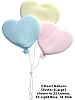 3 Heart Balloon Cluster (Large) Fabric Wall Art shown in #32 Lemon, #33 Light Blue, #31 Pink