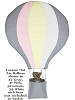 Custom Hot Air Balloon Fabric Wall Art shown in 47 Gray, 31 Pink, 32 Lemon, 39 White