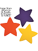 Large Star Fabric Wall Art shown in 16 Purple, 15 Orange, 12 Yellow