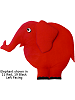 Fabric Wall Art Circus Elephant: #11 Red, #19 Black
