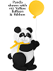 Panda Bear with Balloon Fabric Wall Art shown with #12 Yellow Balloon and Bow