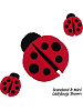 Ladybug Fabric Wall Art Grouping