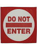 Do Not Enter Sign Fabric Wall Art