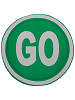 Go Sign Fabric Wall Art