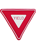 Yield Sign Fabric Wall Art