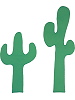 Cactus (set of 2) Fabric Wall Art shown in 74 Grass Green