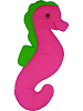 Seahorse Fabric Wall Art shown in #51 Hot Pink & #54 Lime