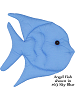 Fabric Wall Art Angel Fish shown in #63 Sky Blue