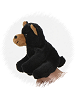 Black Bear Finger Puppet Stuffed Animal by Unipak