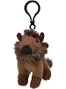 Bison Wildlife Plush Clip-On Stuffed Animal by Unipak