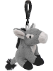 Donkey (Gray) Wildlife Plush Clip-On Stuffed Animal by Unipak