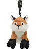 Fox Wildlife Plush Clip-On Stuffed Animal by Unipak