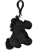 Horse (Black) Wildlife Plush Clip-On Stuffed Animal by Unipak