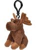 Moose Wildlife Plush Clip-On Stuffed Animal by Unipak