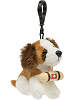 Saint Bernard Plush Clip-On Stuffed Animal by Unipak