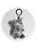 Squirrel (Gray) Wildlife Plush Clip-On Stuffed Animal by Unipak