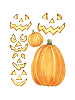 Jack O'Lantern Giant Wall Decals Sheet B