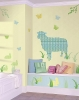 Betty the Lamb ZooWallogy Giant Wall Decals Room View