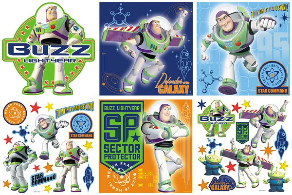 Toy story buzz lightyear decorating kit for Buzz lightyear wall mural