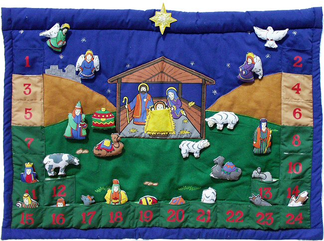 Nativity Advent Calendar By Pockets Of Learning