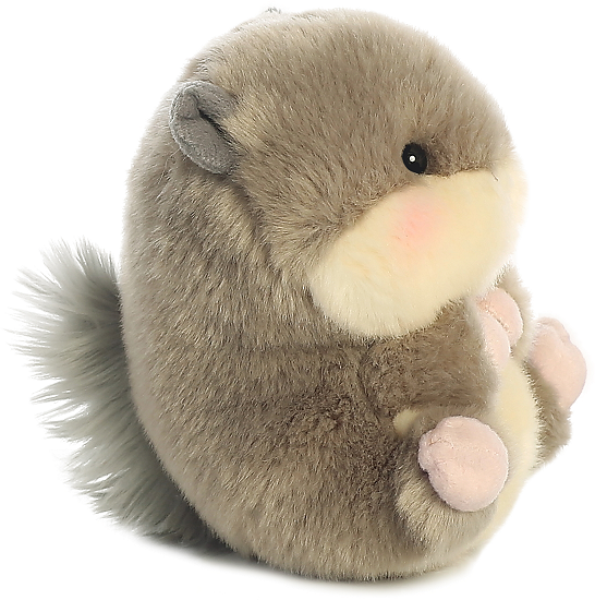 46aad846ede7 ... Nanigans Squirrel Rolly Pets Stuffed Animal by Aurora World (Right  Rolled View)